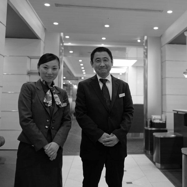 写真:帝国ホテル パークサイドダイナーの小島さんと深田課長