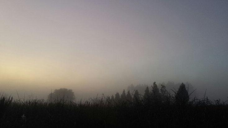 ...um 8.00 Uhr ist Rausschmiss in den Herbergen, also früh um 7.00 Uhr geht´s los....jeden Tag!!