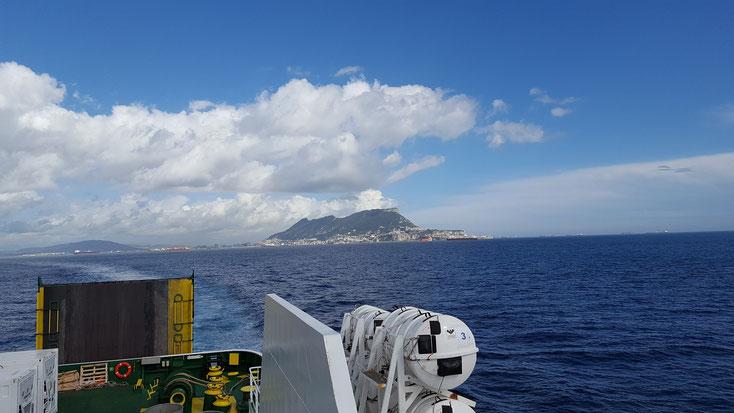 Tschüss Europa, Tschüss Gibraltar...bis in drei Monaten....oder so.
