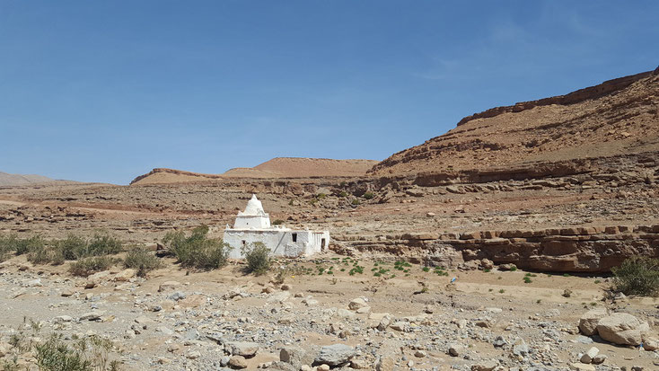 Eine sehr alte Moschee. Früher waren die meisten Moscheen in Marokko so.