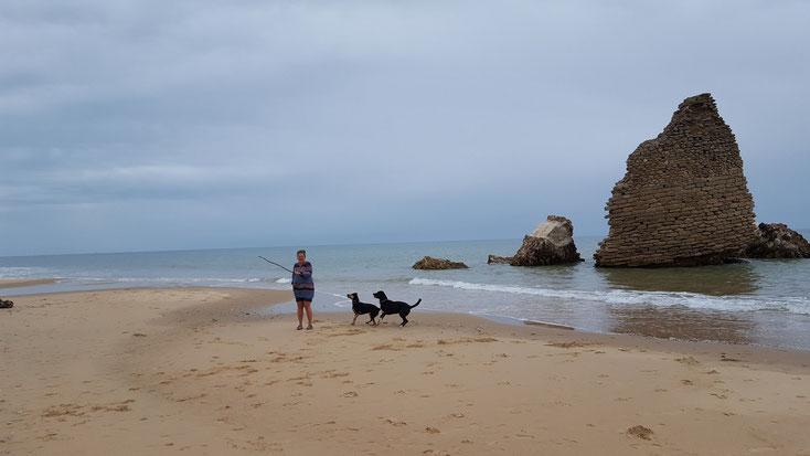 Strand in der Nähe von Huelva in Spanien....nicht der Rede wert