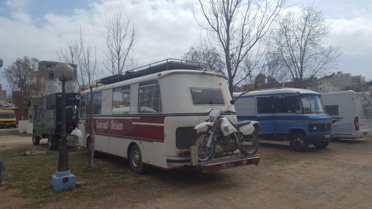 Stelldichein auf dem Camping Martil
