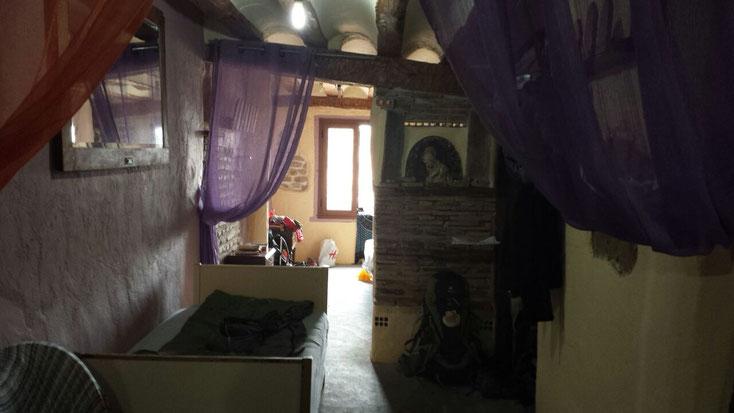 ..und kleine private Herberge bei der Familie auf Spendenbasis in Granon.
