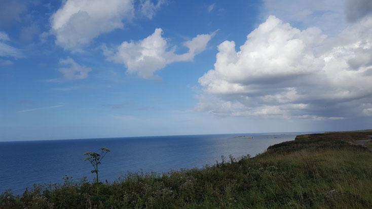 Küstenlandschaft bei Arromanches
