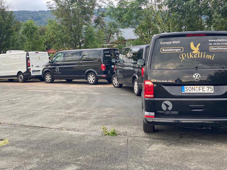 Makina speziale per transortin e kufoma nga vendet e europes