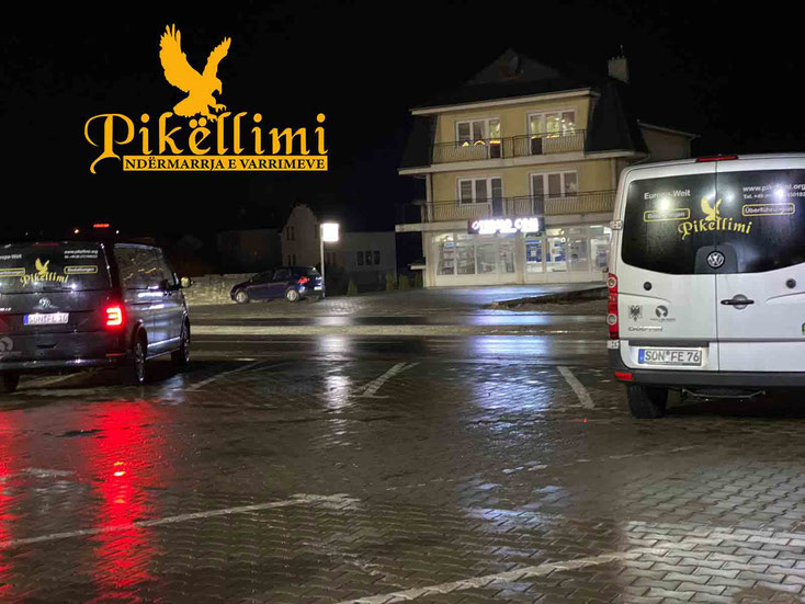 Pikellimi Leichenwagen nach Kosovo, Mazedonien, Albanien, Monte Negro