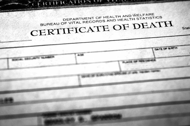 Dokumentet e nevojshme në rast vdekje