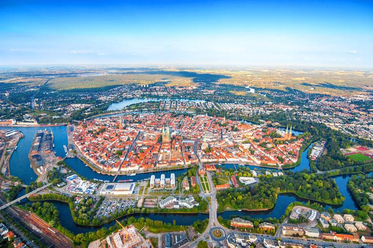 Lübeck Vogelperspektive; Wirtschaftsdetektei Lübeck, Privatdetektei Lübeck