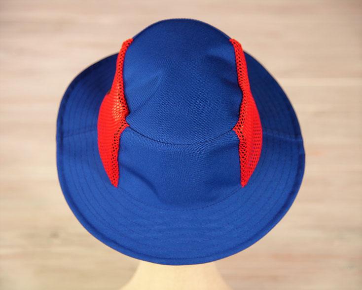釣り 帽子 青色