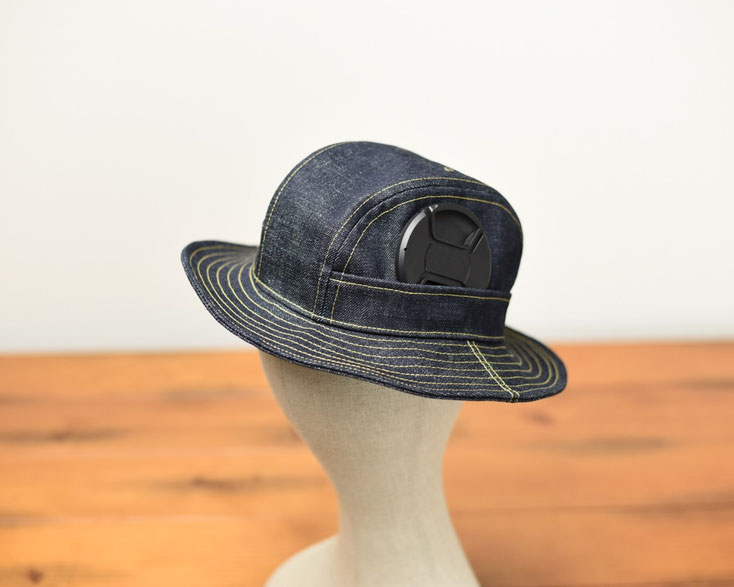 富山 帽子 デニムハット