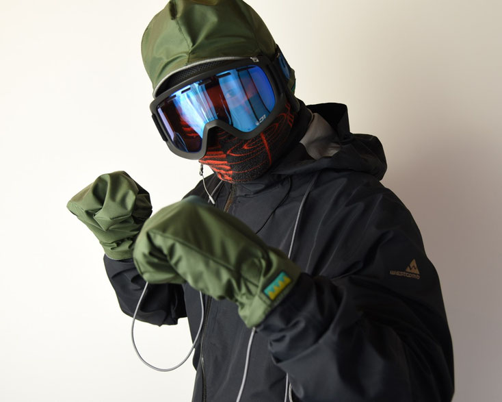 スノーボード グローブ 帽子