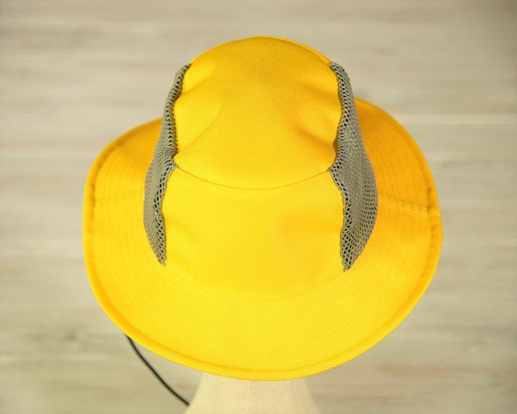海遊び 帽子 黄色