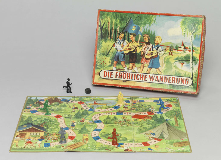 """Gesellschaftsspiel """"Die fröhliche Wanderung"""" aus dem Jahr 1952 (?)"""