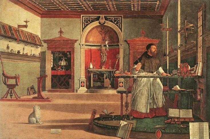 """Vittore Carpaccio, """"Visione di Sant'Agostino"""""""