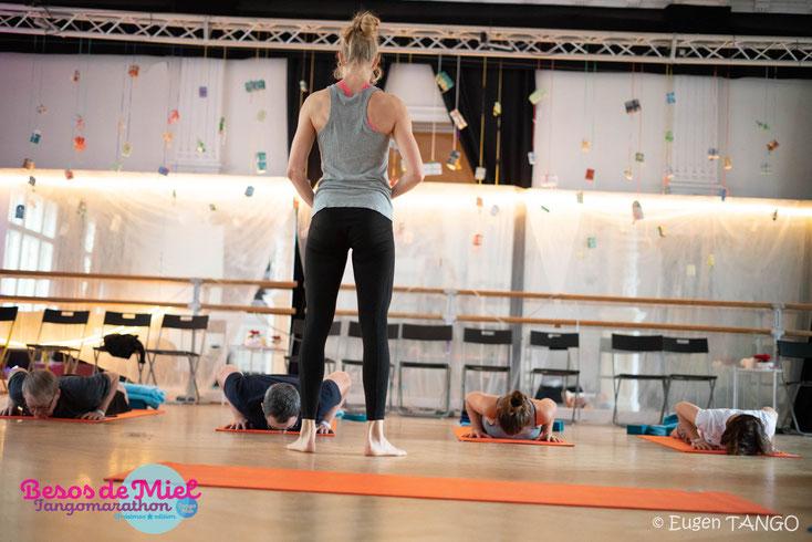 "Yoga beim Tangomarathon ""Besos de Miel"" in Halle (Saale)"
