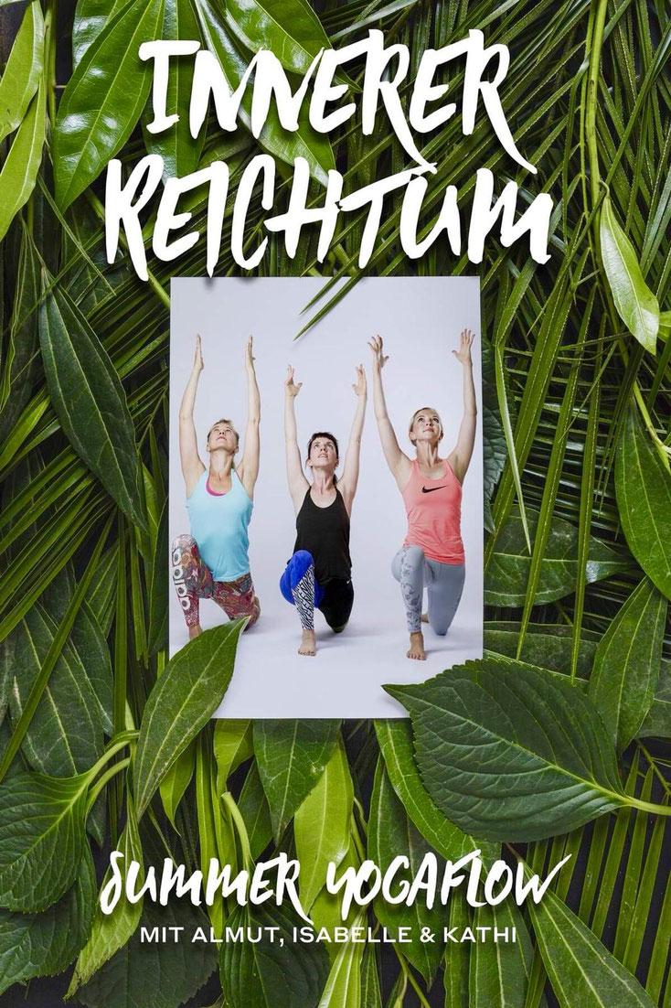 """Flyer Summer Yogaflow """"Innerer Reichtum"""""""