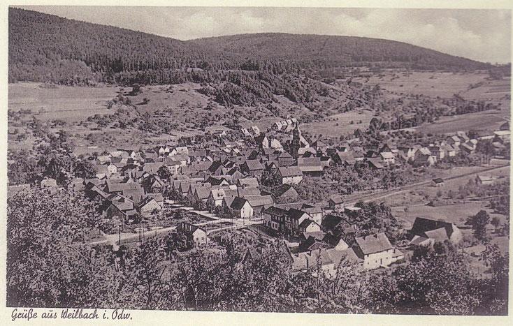 Eine alte Ansichtskarte von Weilbach