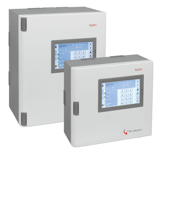 Telenot Alarmsystem Hiplex, Gefahrenmeldezentrale mit Zutrittskontrolle,  presented by SafeTech