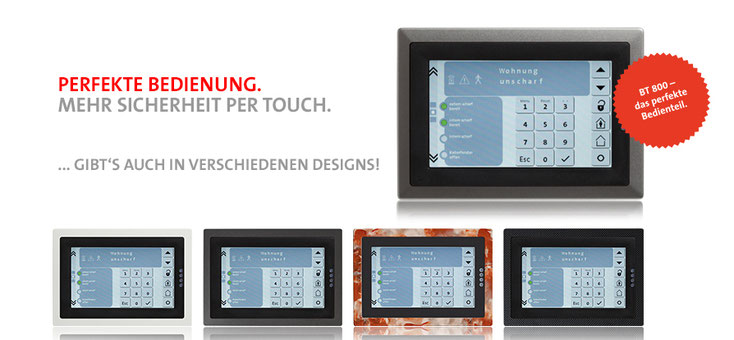 Telenot Touch Bedienfeld BT800 presented by SafeTech