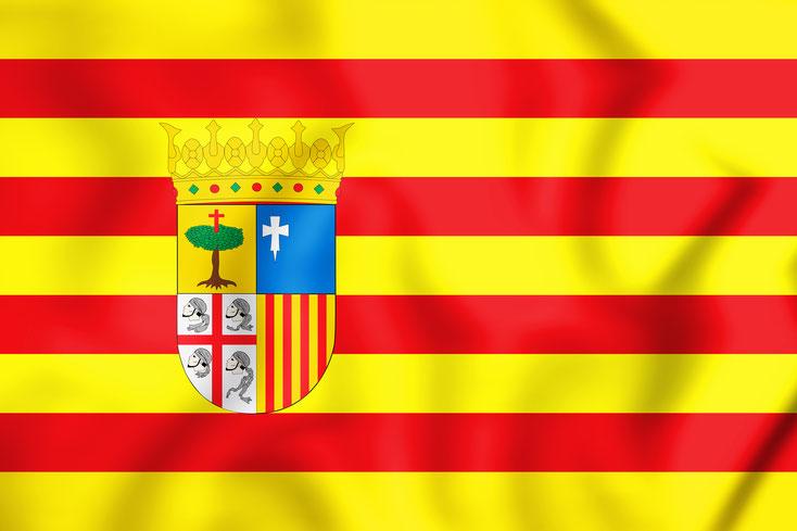 Aragón Bandera; Wirtschaftsdetektei Zaragoza, Detektei Huesca, Detektiv Teruel, Detektei Zaragoza