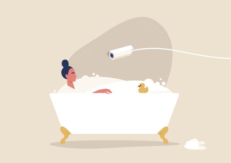 Videoüberwachung Badewanne; video surveillance bathtub; Detektiv Köln, Detektei Köln