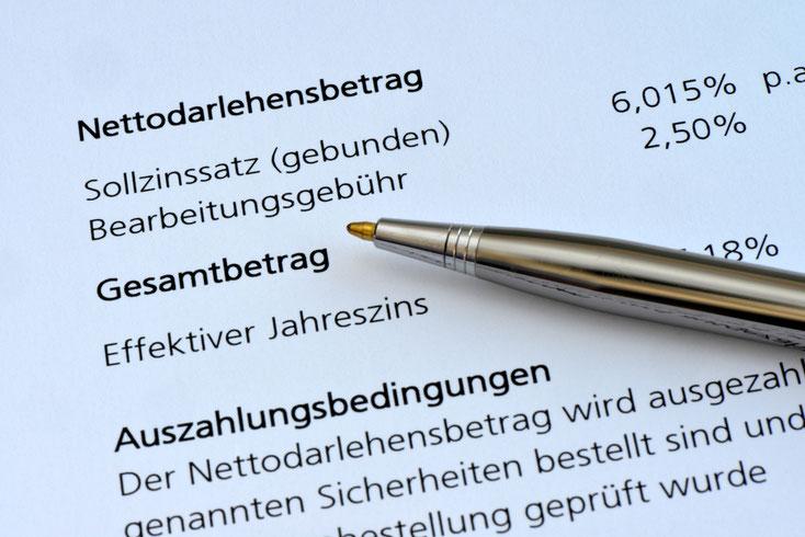Bonitätsprüfung Kurtz Detektei Köln, Beispiel für einen Darlehensvertrag