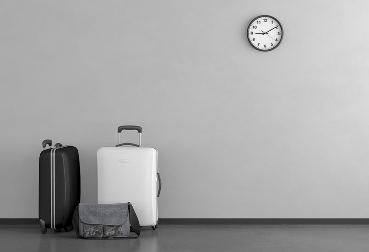 Koffer + Tasche; Detektei fürs Ausland, Auslandsdetektive, internationale Detektei