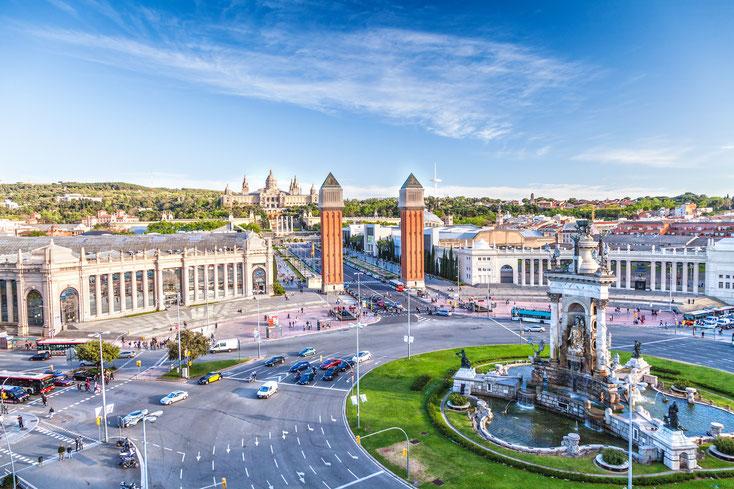 Plaça d'Espanya in Barcelona; Detektei Kurtz, Detektiv Barcelona, Privatdetektiv Barcelona
