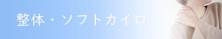 横浜らいふ治療院の整体系メニュー