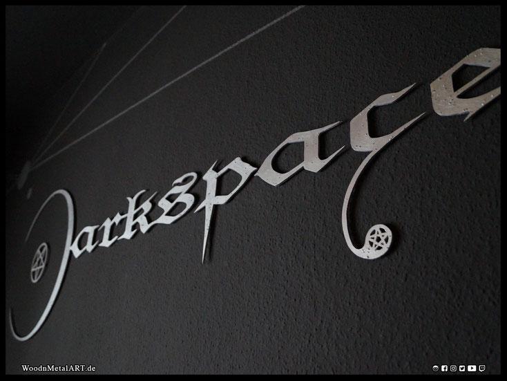 WoodnMetalART Scrollsaw Dekupiersäge Holzlogo Darkspace Black Metal