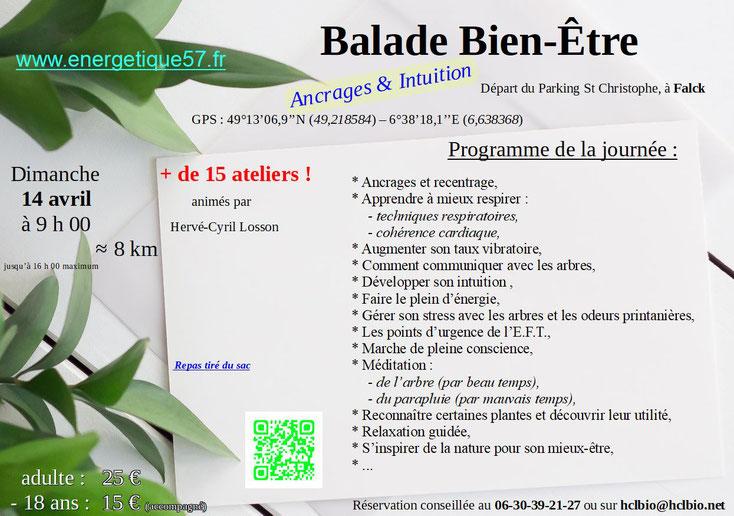 Balade Bien-Être, Falck, HCL, Ateliers