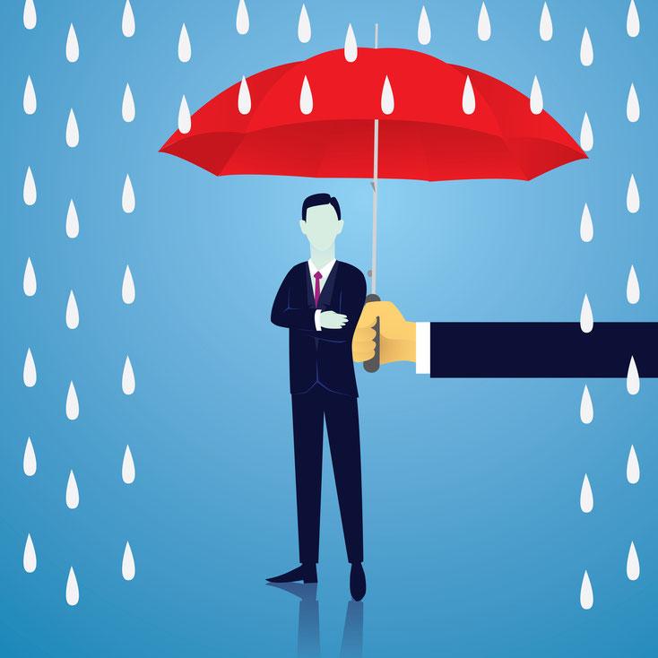 Mann mit Regenschirm; Wirtschaftsdetektei Kiel, Detektei Rendsburg, Detektiv Dänemark