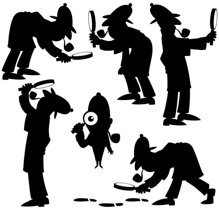 Detektiv-Cartoon; Detektei Kiel, Detektiv Flensburg, Privatdetektiv Neumünster, Detektei Sylt