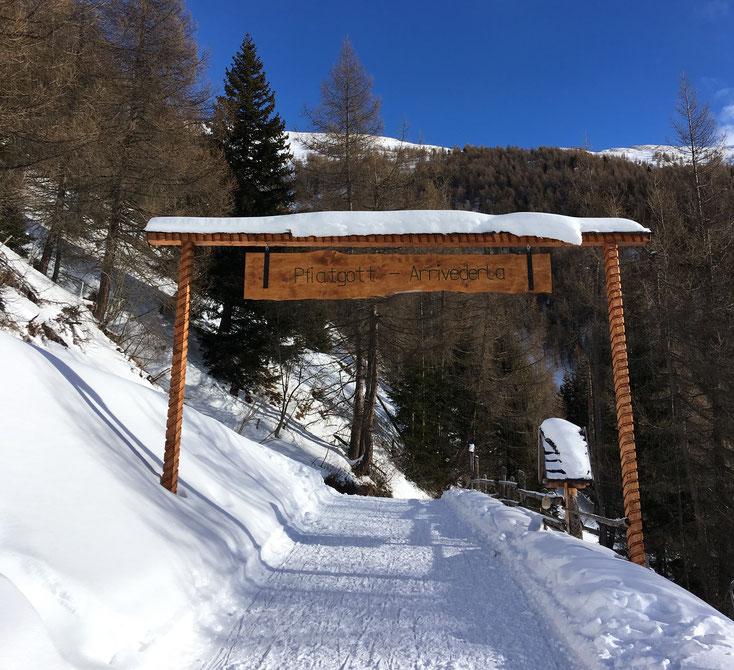 Das Tor der Prantneralm oberhalb Sterzing, Südtirol (1800m)