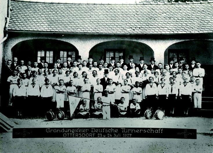 1926 wurde die Turnerschaft gegründet, im Jahr 1927 fand die Gründungsfeier statt.