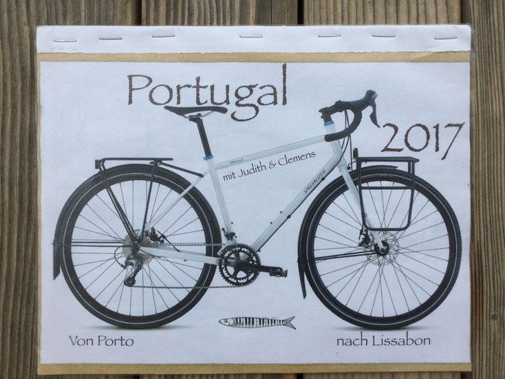 Roadbook mit Tour und Route, Portugal, Urlaub 2017