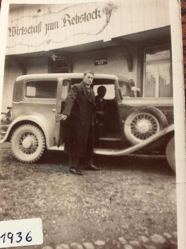 Ludwig Böni am Tag seiner Auswanderung