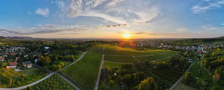 PANORAMA: Sonnenuntergang über Offenburg