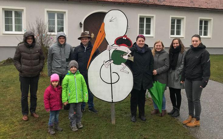 Storch stellen in Speltenbach bei Familie Maier-Feißt