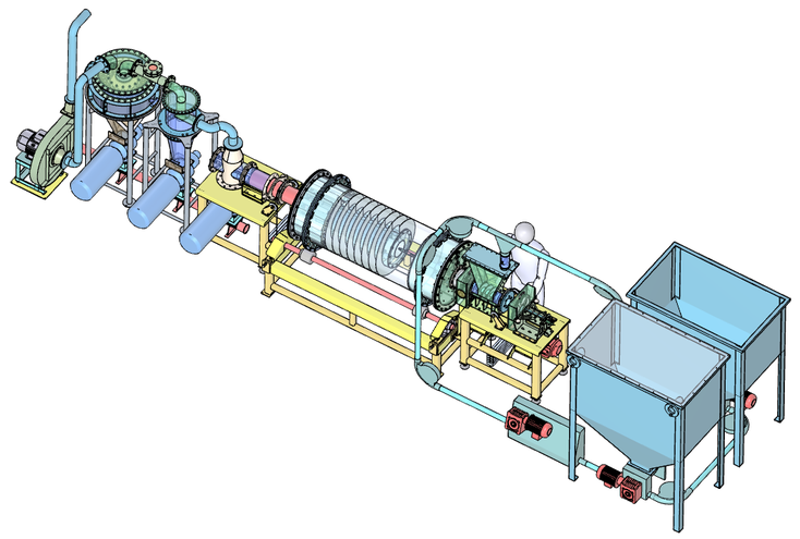 Fig. 4: Gas generating unit GE 50/100 (schematic illustration inside the container)