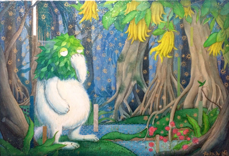 『Sleeping Forest』2013年制作 (41×60.6cm)