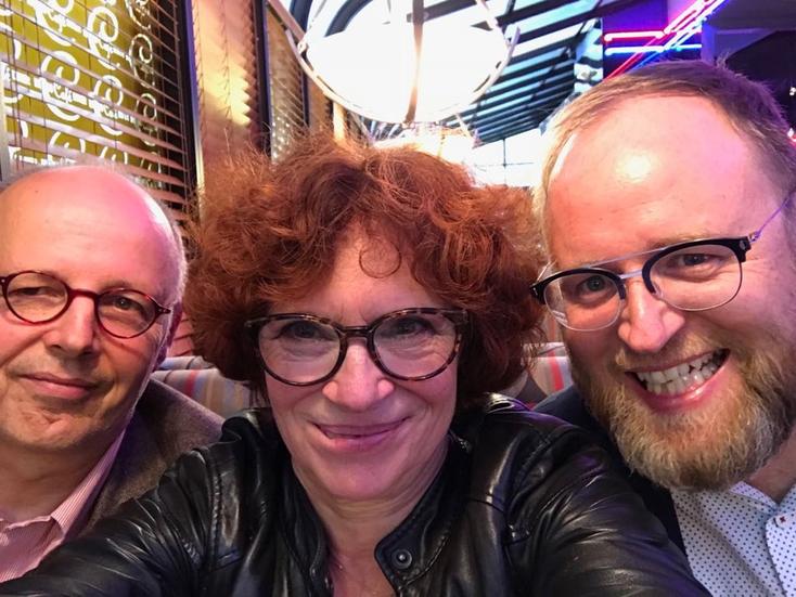 Die Panelisten Martin Jander, Annetta Kahane und Enrico Heitzer