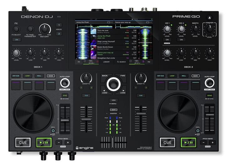 Denon Prime Go Standalone DJ-Controller für Anfänger, Fortgeschrittene und Profis