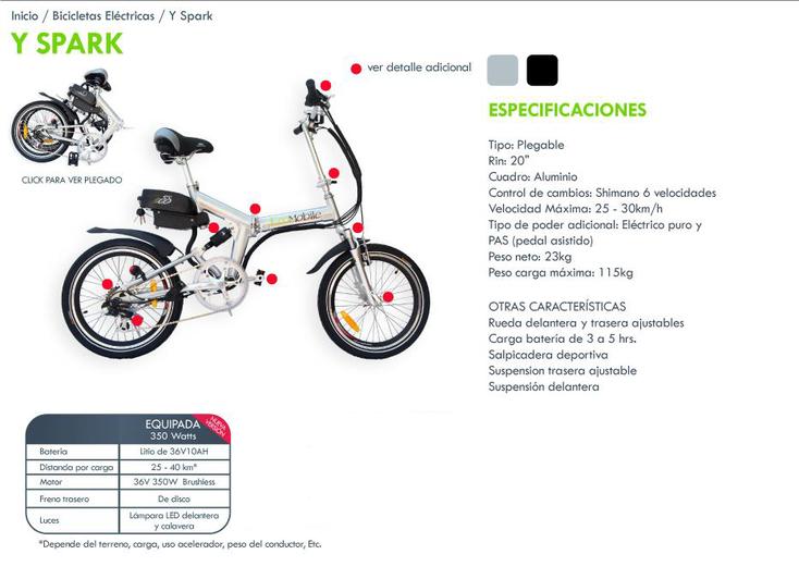Bicicleta eléctrica plegable economiza gasolina y espacio.