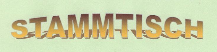 """Text: """"Stammtisch"""", erstellt mit WordArt"""