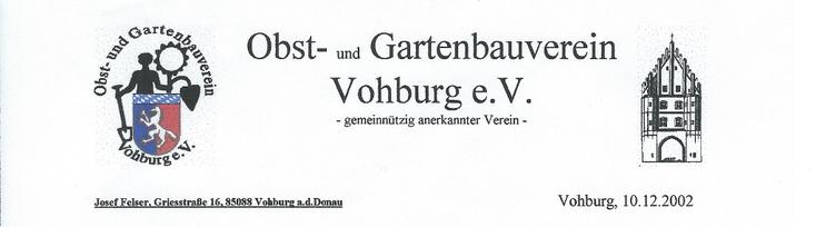"""Hier ist der Briefkopf aus der Zeit Vorstandschaft """"Josef Felser"""" abgebildet."""