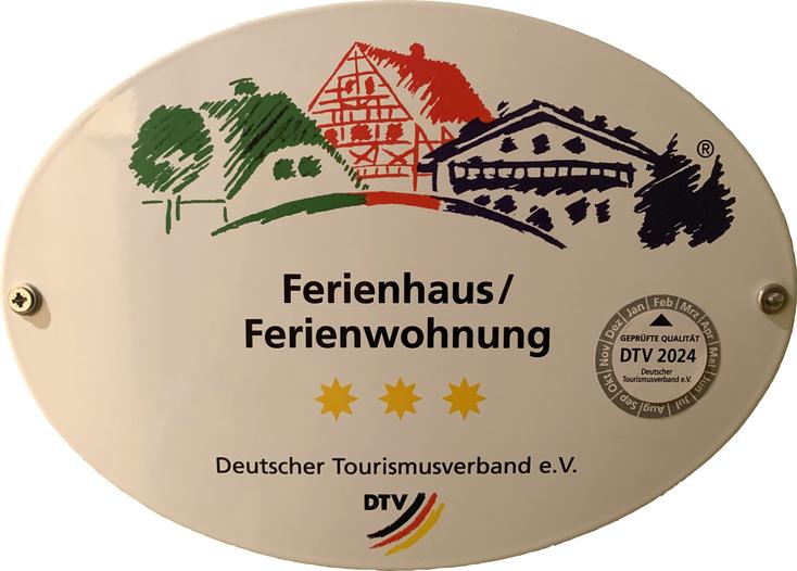 Bild: Ferienwohnung Koblenz RheinBlick590, Klassifizierungsschild des Deutschen Tourismusverdand