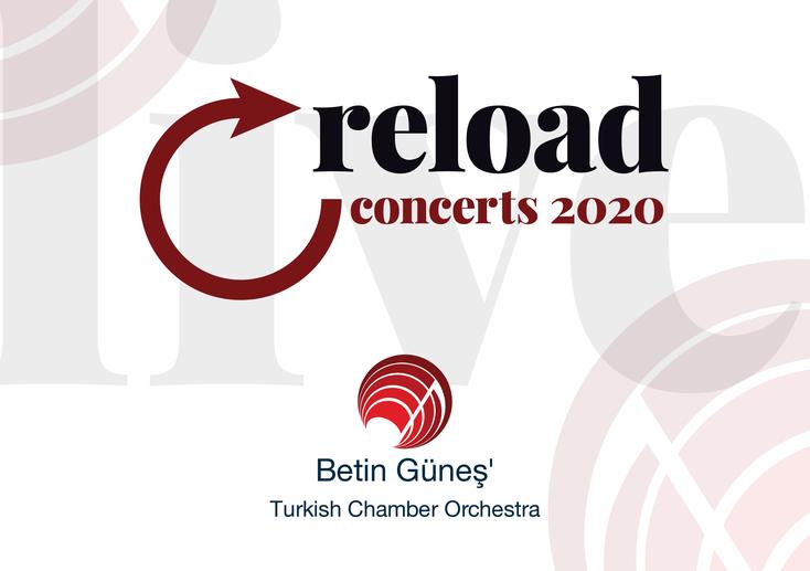 """Logo der von der """"Kulturstiftung des Bundes"""" geförderten Konzertreihe """"reload no. 1- 14"""" gestaltet von Designer Klaus Wiesel"""