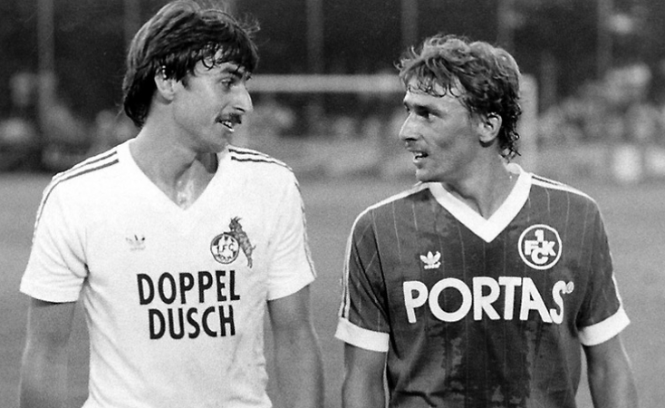 Klaus (à gauche) et Thomas Allofs lors d'une rencontre entre Cologne et Kaiserslautern.