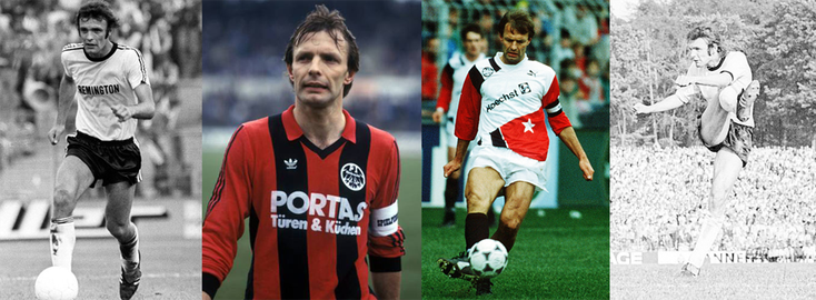 Eintracht Francfort... 70's, 80's et 90's - RFA - Click to enlarge